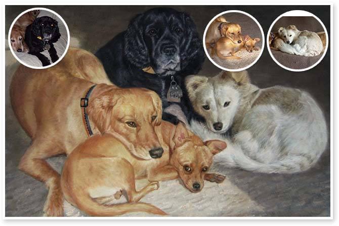 custom pet paintings from photos